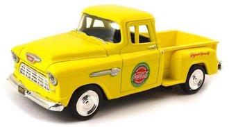 1:43 Coca-Cola 1955 Chevy Stepside Pickup (Yellow)