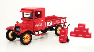 1:32 Coca-Cola 1923 Ford Model TT Pickup w/Bottle Cartons