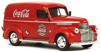 1:43 Coca-Cola 1941-46 Chevy Panel Delivery (Red)