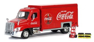 1:50 Coca-Cola Beverage Truck w/Handcart & 4 Bottle Crates