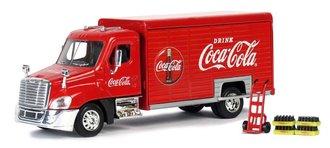 1:50 Coca-Cola Beverage Truck w/Handcart & 4 Bottle Crates