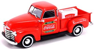 1:43 Coca-Cola 1953 Chevy Pickup (Red) w/Metal Cooler
