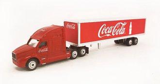 1:87 Coca-Cola Freightliner Century w/Van Trailer (Red)