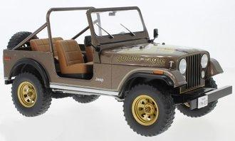 1:18 1980 Jeep CJ-7 Golden Eagle (Dark Brown Metallic)