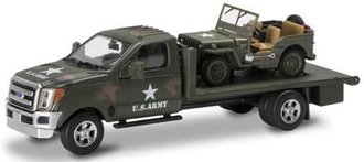 1:48 U.S. Military Ford F-350 Flatbed Truck w/Jeep