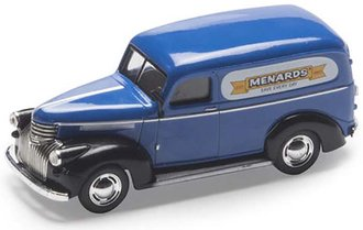 "1:43 1941-46 Chevy Panel Delivery ""Menards"" (Blue/Black)"