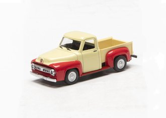 1:48 1953 Ford F-100 Pickup Truck (Cream/Red)