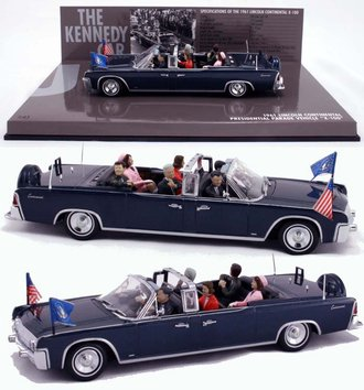 1961 Lincoln V-8 X-100 Presidential Parade Limousine w/John F. Kennedy & Other Figures (Dallas, TX)