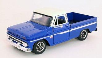 1:24 1966 Chevy C-10 Fleetside Pickup (Medium Blue/Cream)