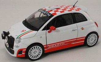1:24 Fiat Abarth 500 R3T (White w/Red Checker)
