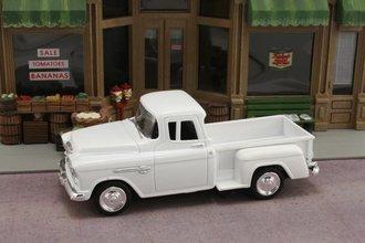 1:43 1955 Chevy Stepside Pickup (White)