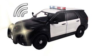 1:18 Lights & Sound - 2015 Ford PI Police Utility (Black/White - Undecorated)