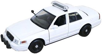 1:24 2010 Ford Crown Victoria Police Car (White - Undecorated) w/Light Bar