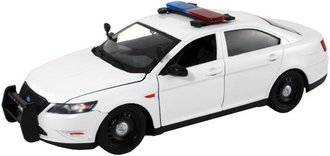1:24 Ford Police Interceptor Police Car (White - Undecorated) w/Light Bar