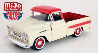 1958 Chevy Apache Fleet Side Pickup (Cream/Red)