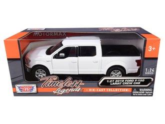 1:27 2019 Ford F-150 Lariat Crew Cab Pickup (White)