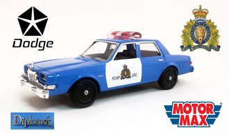 "1:43 1983 Dodge Diplomat Police ""RCMP"""