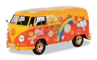 "1:24 Volkswagen Type 2 (T1) Delivery Van ""Flower Power"" (Yellow/Orange)"