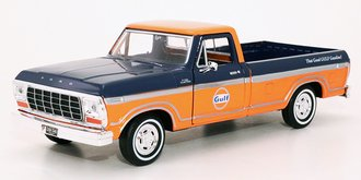 1:24 Gulf Oil - 1979 Ford F-150 Custom Pickup (Dark Blue/Orange)