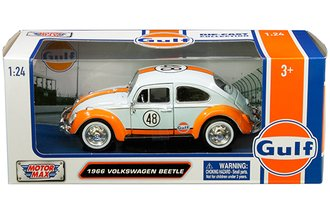 1:24 Gulf Oil - 1966 Volkswagen Beetle (Light Blue/Orange)
