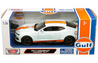 1:24 Gulf Oil - 2017 Chevrolet Camaro ZL1 (Light Blue w/Orange stripes)
