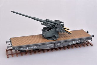 128mm Flak 40 Anti-Aircraft Railway Car - German Army, World War II