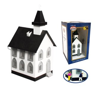 O Church - Lighted & Assembled w/2 Figures
