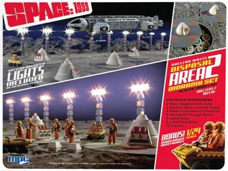 Space: 1999 Nuclear Waste Dispolsal Area 2 Diorama Set w/MoonBuggy (Model Kit)