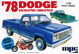 1978 Dodge D100 Pickup w/Mini-Bike (Model Kit)