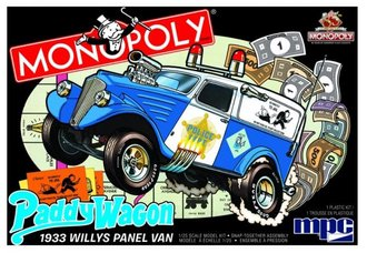 "1:25 1933 Willys Panel Paddy Wagon ""Monopoly"" 2T (Model Kit)"