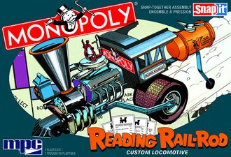 Monopoly Reading 'Rail Rod' Custom Locomotive (SNAP Model Kit)
