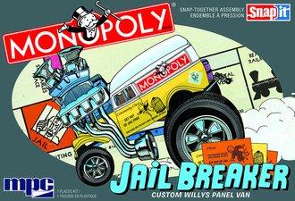 1:25 Monopoly Jail Breaker Custom Willys Panel (SNAP Model Kit)