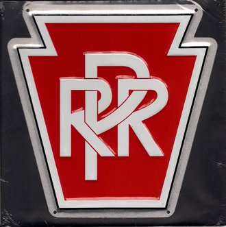 "8"" Die-cut Metal Sign ""Pennsylvania Railroad"""