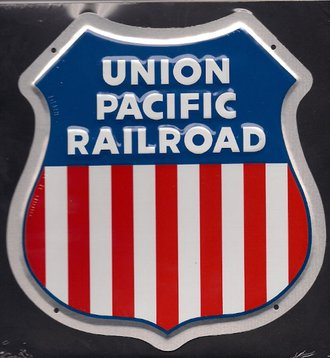 "8"" Die-Cut Metal Sign ""Union Pacific Railroad"""