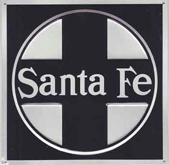 "8"" Die-Cut Metal Sign ""Santa Fe"" (Black)"