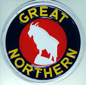 "8"" Die-Cut Metal Sign ""Great Northern"""