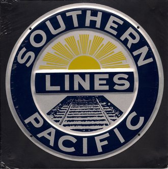 "8"" Die-Cut Metal Sign ""Southern Pacific Lines"""