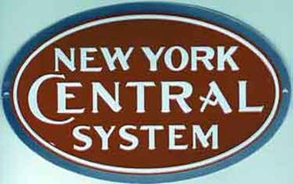 "8"" Die-Cut Metal Sign ""New York Central System"""
