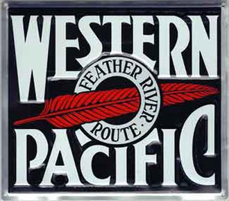 "8"" Die-Cut Metal Sign ""Western Pacific"""
