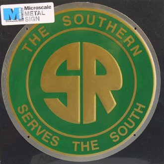 "8"" Die-Cut Metal Sign ""Southern Railway"""