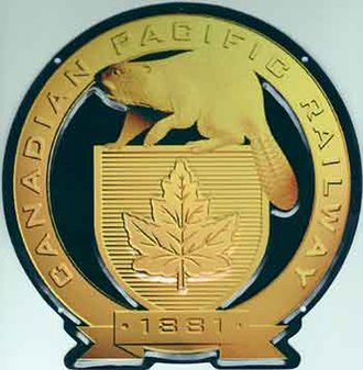 "8"" Die-Cut Metal Sign ""Canadian Pacific Railway"""