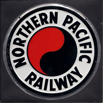 "8"" Die-Cut Metal Sign ""Northern Pacific Railway"""