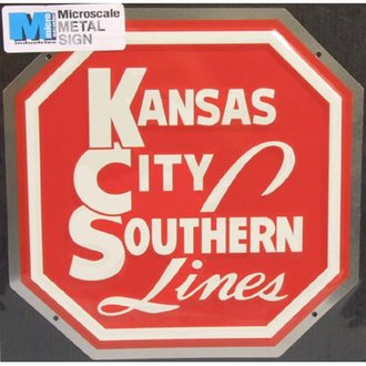 "8"" Die-Cut Metal Sign ""Kansas City Southern Lines"""