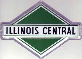 "8"" Die-Cut Metal Sign ""Illinois Central"""