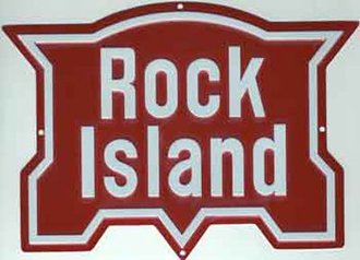 "8"" Die-Cut Metal Sign ""Rock Island"""