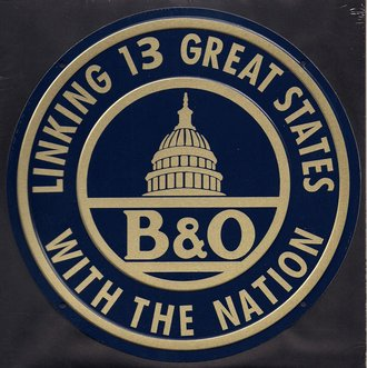 "8"" Die-Cut Metal Sign ""B&O Baltimore & Ohio"""