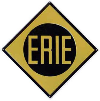 "8"" Die-Cut Metal Sign ""Erie"""