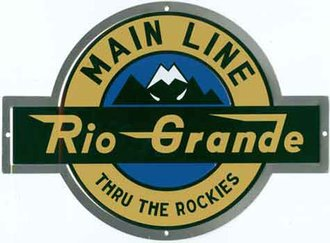 "8"" Die-Cut Metal Sign ""D&RGW - Rio Grande"""