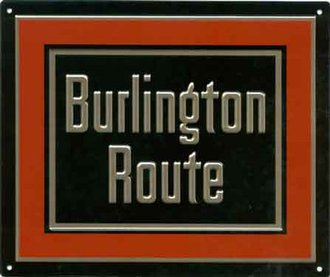"8"" Die-Cut Metal Sign ""Chicago Burlington & Quincy"""