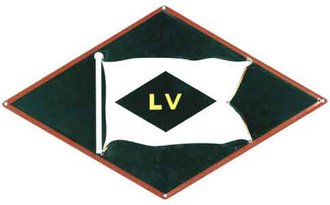"8"" Die-Cut Metal Sign ""LV"""